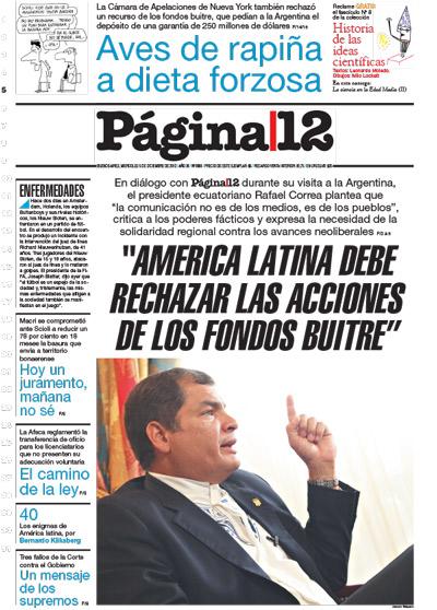 Tapa de la fecha 05-12-2012