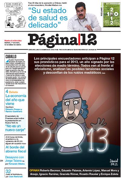 Tapa de la fecha 31-12-2012