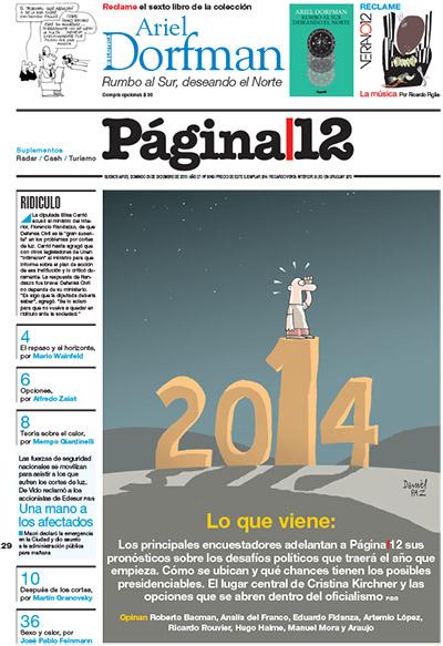 Tapa de la fecha 29-12-2013
