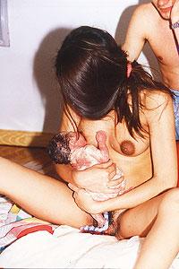fotos de mujeres en el parto: