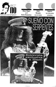 """[Entrevista 1995] """"Yo no me fui de Guns N' Roses"""""""