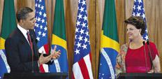 El mandatario estadounidense Barack Obama visitó a su par brasileña Dilma Rousseff hace un mes.