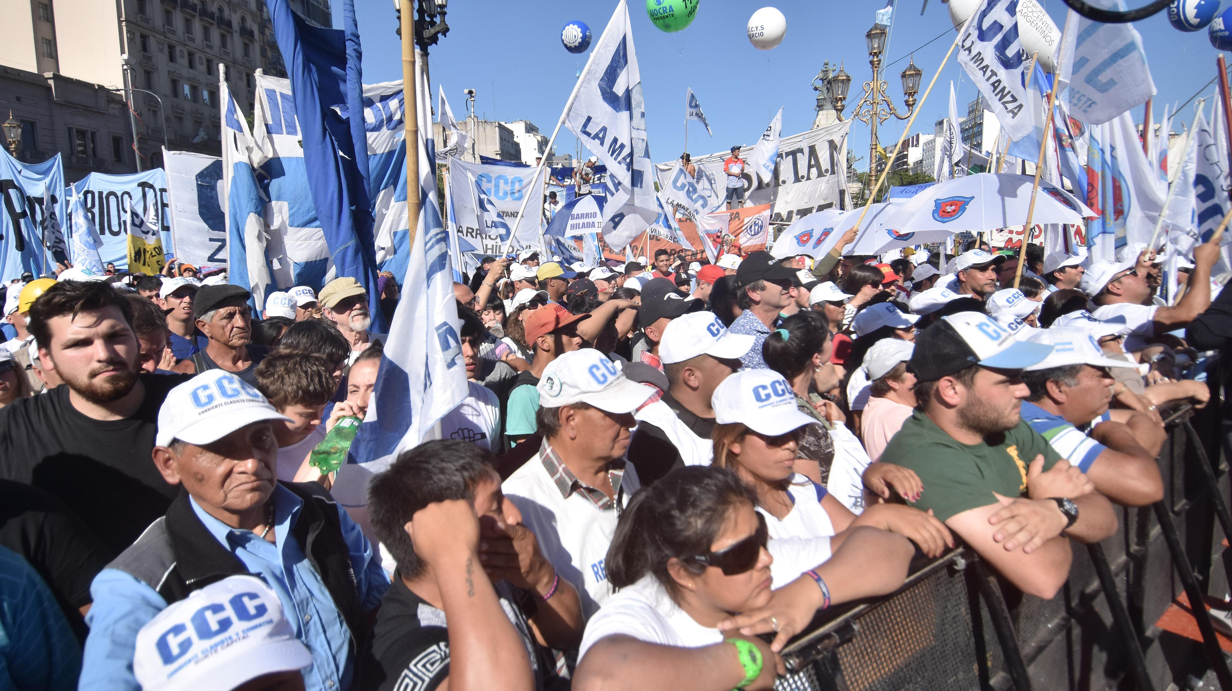 Los movimientos sociales mostraron una vez más la capacidad de movilización. (Fuente: DyN)