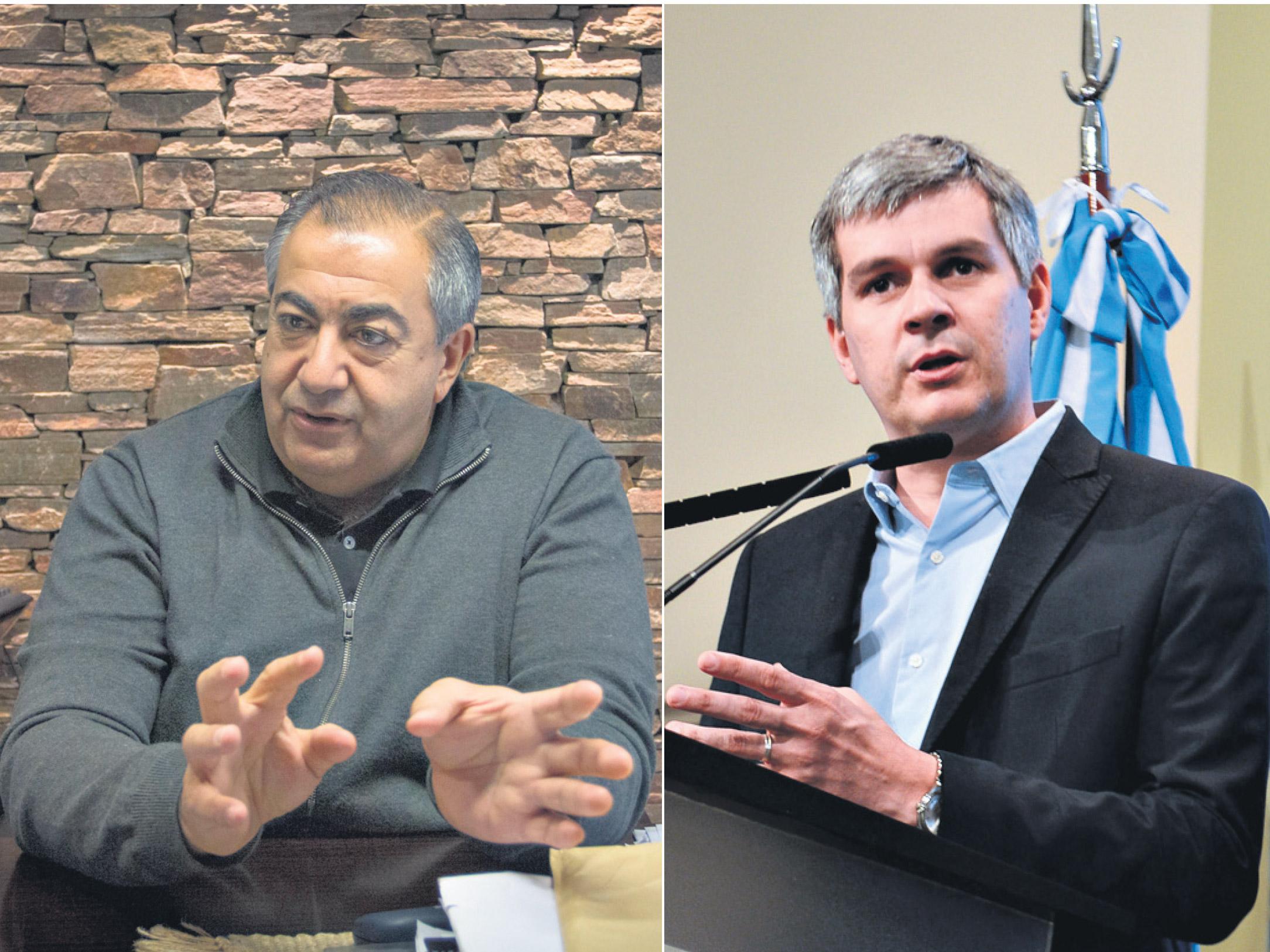 El integrante de la conducción de la CGT, Héctor Daer, y el jefe de Gabinete, Marcos Peña, se cruzaron por los convenios colectivos. (Fuente: Kala Moreno Parra/DyN)