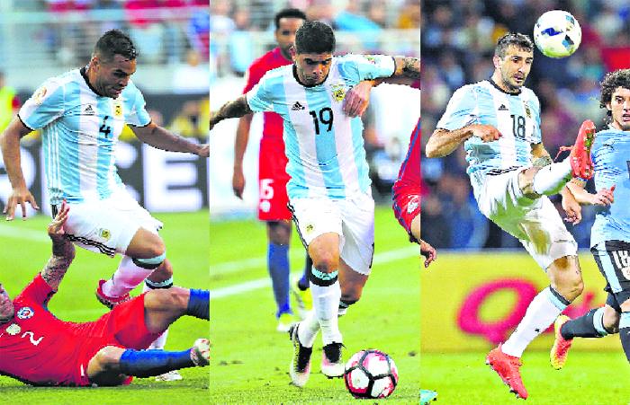 Argentina tendrá tres cambios: Mercado por Zabaleta, Banega por Pérez y Pratto por Higuaín. (Fuente: Télam)