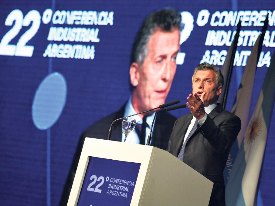 """""""La fortaleza de las personas radica en cuán capaces son de soportar la verdad"""", dijo Macri al hablar de más ajuste. (Fuente: Joaquín Salguero)"""