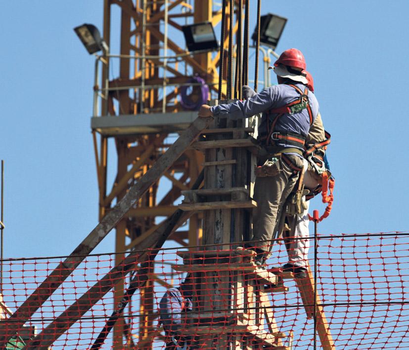 La industria de la construcción fue la más afectada por la pérdida de puestos de trabajo. (Fuente: Bernardino Avila)