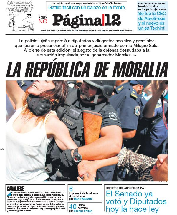 Represión en Argentina contra la razón y los derechos